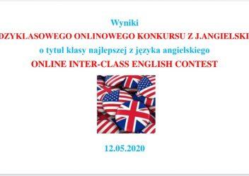 Międzyklasowy Onlinowy Konkurs  Języka Angielskiego