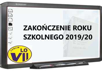 Zakończenie roku szkolnego 2019/20.